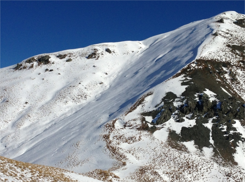 Avalanche NZ- 1308m low saddle. Shady turns