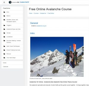 Avalanche NZ online course